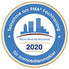 Teilnahme am PMA Fachtraining für Immobilienmakler 2020