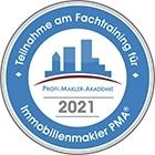 Teilnahme am PMA Fachtraining für Immobilienmakler 2021